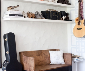 guitar, interior, and room image