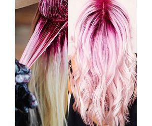 colour, hair, and pink hair image