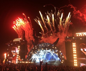 ACDC, angus young, and axl rose image
