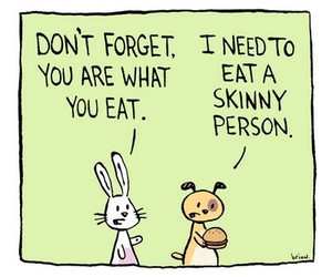 funny, skinny, and eat image