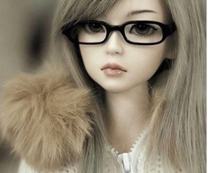 doll, glasses, and bjd image