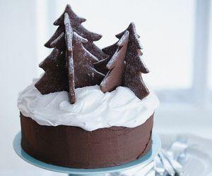 cake, chocolate, and christmas image