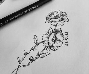draw, flower, and sollefe image