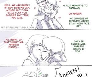 Adrien, Chat Noir, and ladybug image