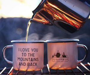 tea, mountains, and coffee image