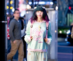 cotton candy, Harajuku, and pajama image