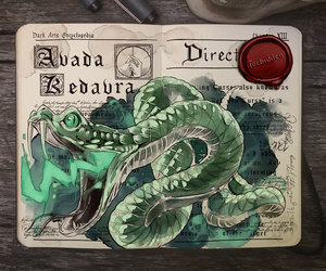 harry potter, art, and avada kedavra image