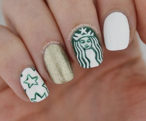 girl, nails, and nail art image