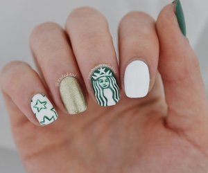 beauty, coffee addict, and nails image