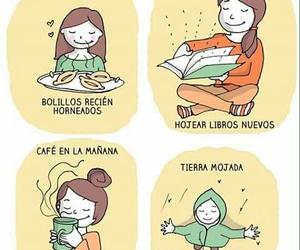 books, girl, and illustration image