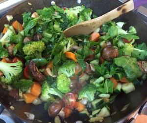 broccoli, carrots, and food image