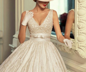 wedding, dress, and vintage image