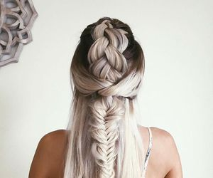 beauty, braid, and hair extension image