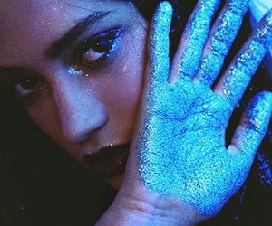 girl, glitter, and blue image