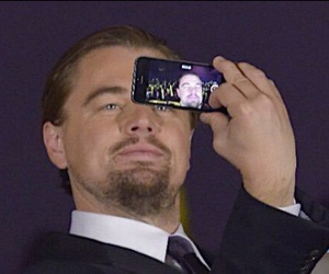 selfie and leonardo dicaprio image