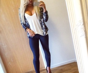 fall fashion, instagram girl, and boobs image