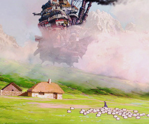 anime and howls moving castle image