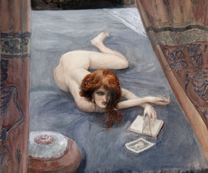 art, bed, and body image