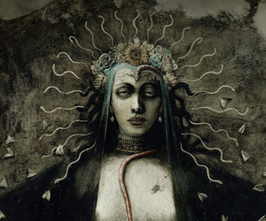 art, face, and santiago caruso image