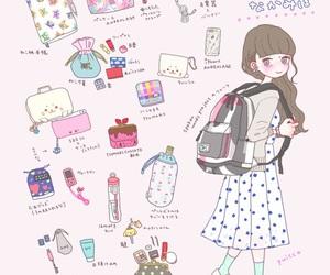 art, bag, and drawing image