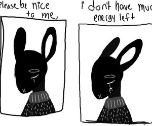 quotes, sad, and bunny image