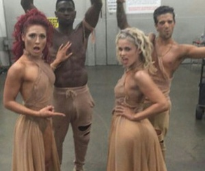 dancing with the stars, sharna burgess, and antonio brown image