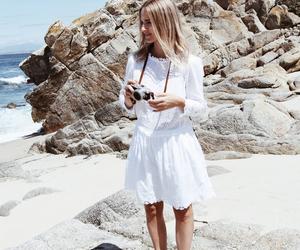 beach, fashion, and ocean image