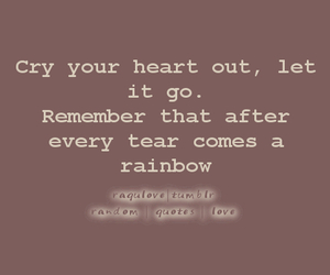 cry, heart, and let it go image