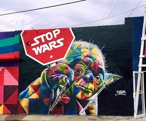 art, star wars, and yoda image