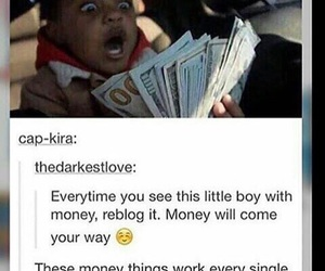 money, repost, and reblog image