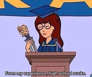 Daria, school, and sucks image