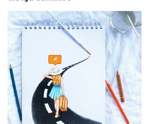 arte, dibujo, and caminos image