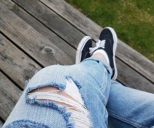 jeans, summer, and vans image