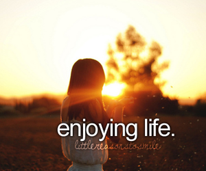 life, text, and enjoy image