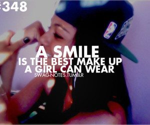 smile, quote, and swag image