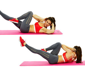bicycle crunches image