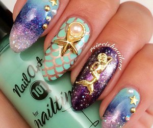 mermaid and nails image
