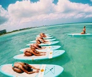 summer, beach, and yoga image