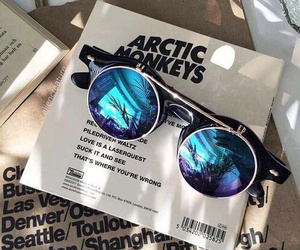arctic monkeys, glasses, and ticket image