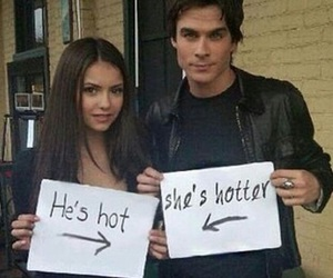 Nina Dobrev, ian somerhalder, and Hot image