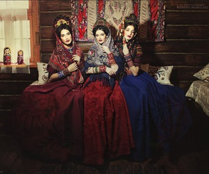 beauty, girls, and traditional dress image