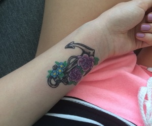 anchor, roses, and blue image