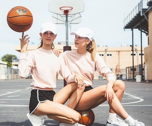 Basketball, girls, and sport image