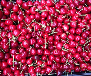cherry, food, and love image