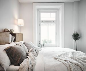 bed, minimal, and room image