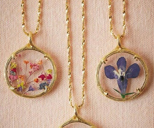 necklace and flowers image