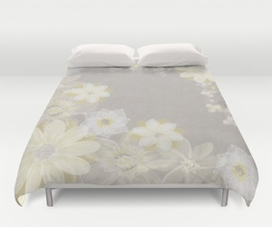 bedding, dorm, and flowers image