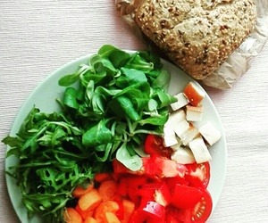 cheese, healthy, and tomato image