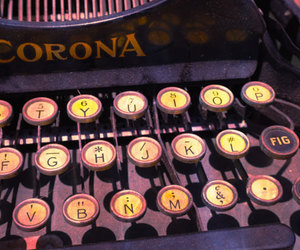 letters, cute, and typewriter image