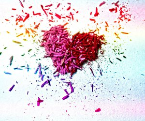 heart, love, and color image